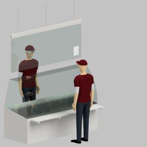 Hygienewand hängend